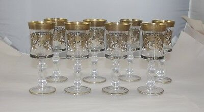 Early 20Th Century Illusion Moser Style Wine Glasses