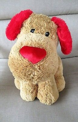 "Walmart Plush Large Brown /Red Puppy Dog 16"" Plush Stuffed"