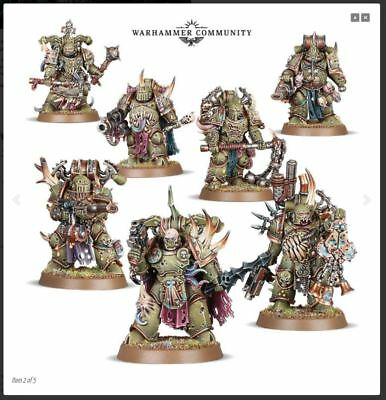 Warhammer 40k Death Guard Plague Marines (7 Model Box Set) - Pre-Order