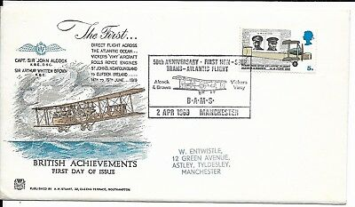 GB 1969 Alcock and Brown Anniversary FDC