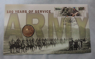 #d321. 2001  Australian  Army  Centenary    Pnc $1  Stamped Envelope