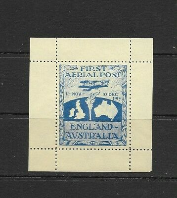GB Australia Flight Aerial Post Cinderella MNH