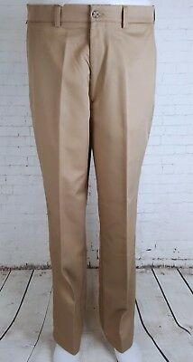 Mens Khaki Relaxed Fit Tapered Leg Levis Dockers Trousers 36/32 EJ56