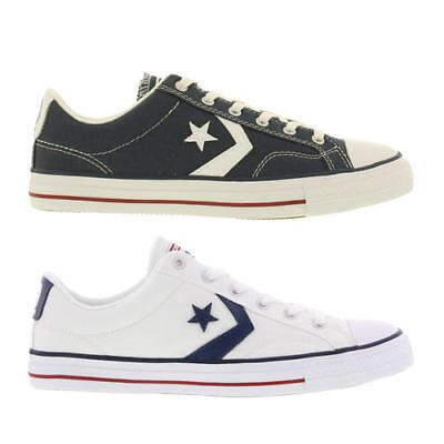 CONVERSE STAR PLAYER Mens Blue White Canvas Trainers Shoes Size UK 7 ... a9aea0d57