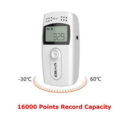 Elitech RC-4 Mini Temperature and Humidity Data Automatic Logger 16000 Points