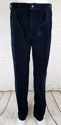 """Vtg Pleated Tapered Ralph Lauren Corduroy """"Andrew"""" Heavy Trousers  35/32 EJ64"""
