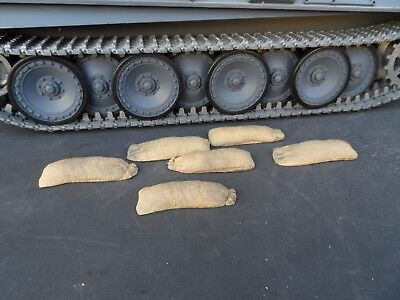 1/16 SCALE R/C TANK SAND BAGS x 6 (RESIN)