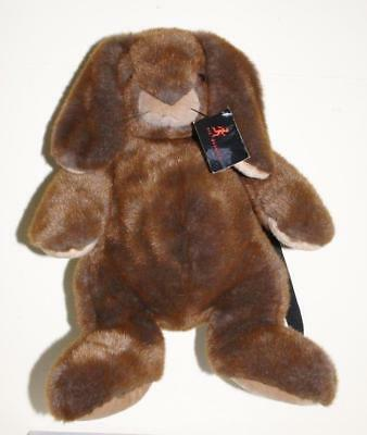 Nic Duysens Large Brown Rabbit Bag Back Pack Soft Plush Toy - New & Card Tagged