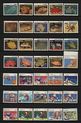Australia Collection 35 Modern Marine Life / Sports Stamps Unmounted Mint