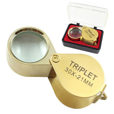 Pocket Jewellers Eye Loupe Magnifier Jewelry Magnifying Glass 30x 21mm Jewelers