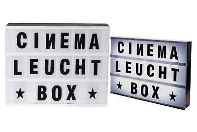 cinema 30x22 leuchteschild led box leuchtkasten buchstaben. Black Bedroom Furniture Sets. Home Design Ideas