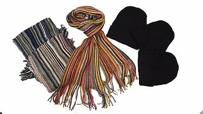 Bargain - Wholesale Hat & Scarf Sets Beanies & Stripe Scarves 12 Of Each Xmas