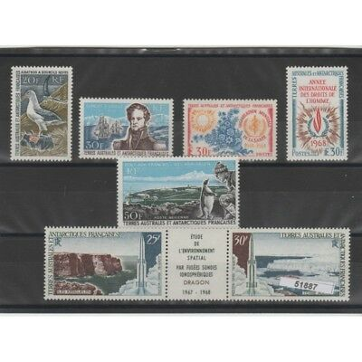 1968 Taaf Ter Antarctic French Year Complete 7 V Mnh Mf51887
