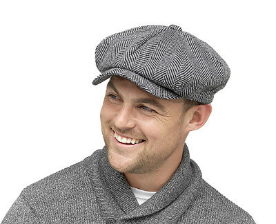 New Newsboy Cap Peaky Blinders Cap Grey Baker Boy Cap 8 Panel Cap Thinsulate