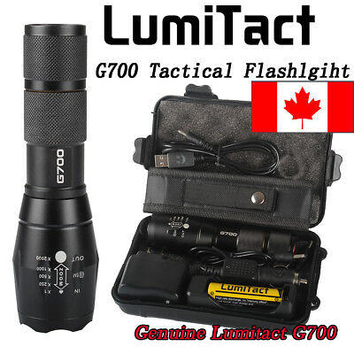CA 8000lm Genuine Lumitact G700 Tactical Flashlight Military Grade Torch battery