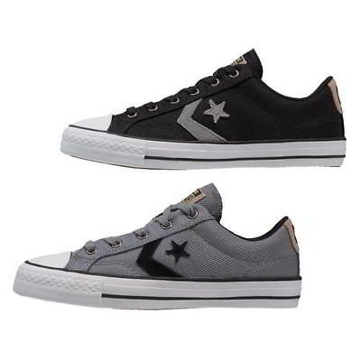Converse Star Player Oxford Mens Classic Trainers Black Grey Size 7-12