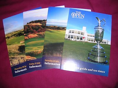 Set Of 4 2017 Open Golf Championship Draw Sheets Royal Birkdale