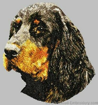 Large Embroidered Zippered Tote - Gordon Setter DLE1546