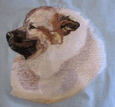 Large Embroidered Zippered Tote - Keeshond BT3591