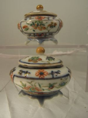 Pr.  chinese famille rose porcelain salts / miniature tureens C19th