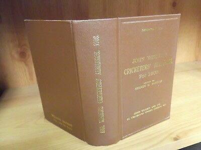 1908 Wisden Willows Reprint - Hardback Edition