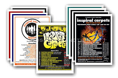 INSPIRAL CARPETS - 10 promotional posters - collectable postcard set # 1