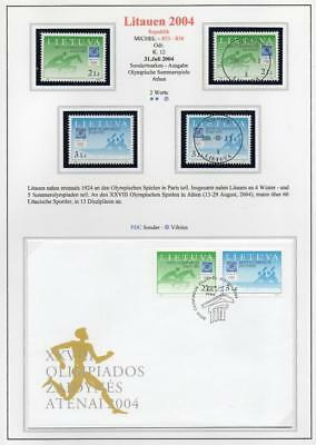 LITHUANIA 2004 MNH/USED-CTO/FDC SG841-42 Olympic Games