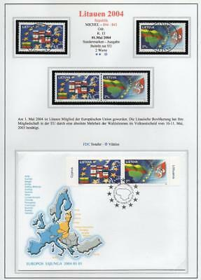 LITHUANIA 2004 MNH/USED-CTO/FDC SG834-35 Accession to the European Union