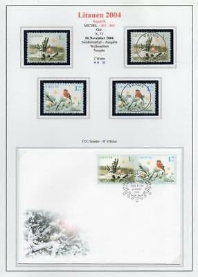 LITHUANIA 2004 MNH/USED-CTO/FDC SG847-47 Christmas