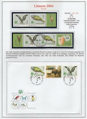 LITHUANIA 2004 MNH/USED-CTO/FDC SG839-40 Zoology Museum