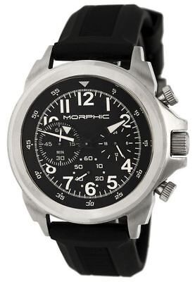 Morphic Mens M19 Series Full-Function Chronograph Silicone Strap Watch : MPH1901