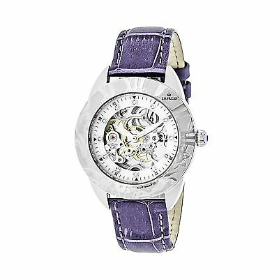 Empress Godiva Automatic Mother-Of-Pearl Skeleton Dial Leather-Band : EMPEM1105
