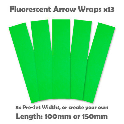 Fluorescent Arrow Wraps - 13pk  - Flo Green - Archery Arrow Wrap