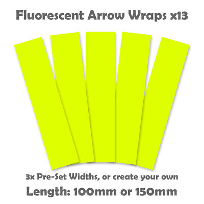 Fluorescent Arrow Wraps - 13pk  - Flo Yellow - Archery Arrow Wrap