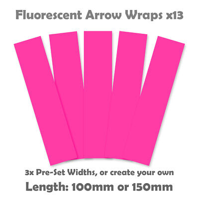 Fluorescent Arrow Wraps - 13pk  - Flo Pink - Archery Arrow Wrap