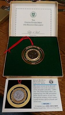United States Mint 1996 Holiday Ornament Nice !