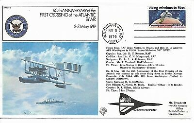 USA GB 1979 Concorde flown flight anniversary cover