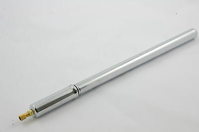"Raleigh 15""-16"" Steel Silver Bicycle Bike Pump Fits Schrader And Presta Valves"