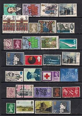 GB QE2 Selection of 31 used stamps in various conditions ( A217 )