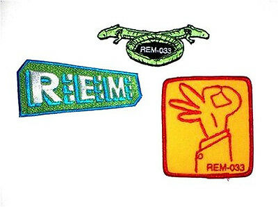 Rem R.e.m.!  3 Patch Set Embroidered New! Free Ship Usa
