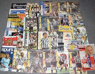 34 Football programmes - Mainly Notts County