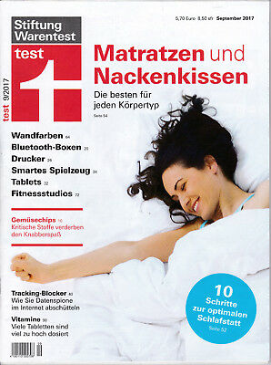 stiftung warentest zeitschrift test juli 2017 07 17 eur. Black Bedroom Furniture Sets. Home Design Ideas