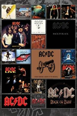 AC/DC ~ ALBUM COVERS 2016 ~ 24x36 MUSIC POSTER Angus Young NEW/ROLLED!