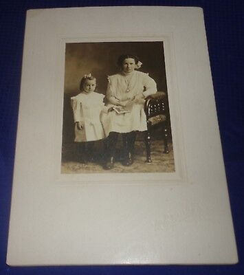 RP2218 Antique Cabinet Card Photo Mother & Daughter Wingham ON