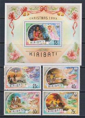 K73 - Kiribati Stamps 1993 Christmas Ss And Regular Stamps Mnh