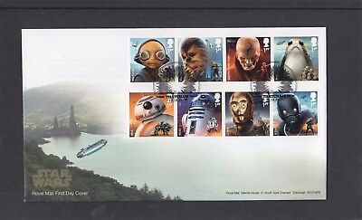 GB 2017 Star Wars Royal Mail FDC First Day Cover Thatcham pictorial pmk
