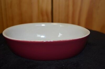 Vintage/Antique H.F. Coors Chefsware #99 Baking Dish - Estate - Maroon