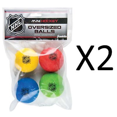 Franklin Sports NHL Mini Hockey Oversized Balls - Foam - 4 Hockey Balls (2-Pack)