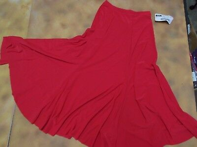 NWT  Ballroom Latin Dance Trumpet Skirt Red Small adult Spandex Practice skirt