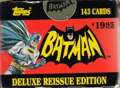Batman 1966 Deluxe Reissue 1989 Topps Ireland Factory Base Card Set Of 143 Dc